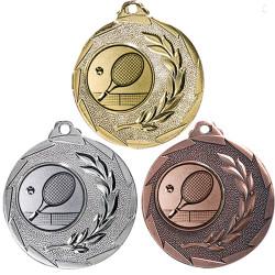 """Tennis Medaille """"Cava"""" Ø 50mm mit Wunschemblem und Band"""