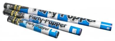 Konfettikanone Papierstreifen blau-weiß