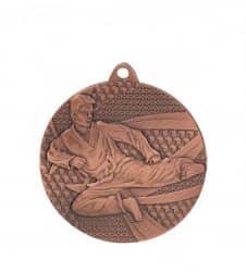 """Medaille """"Karate"""" Ø 50mm mit Band Bronze"""