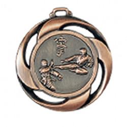 """Medaille """"Karate"""" Ø 40mm mit Band Bronze"""