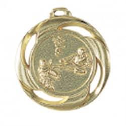 "Medaille ""Karate"" Ø 40mm mit Band Gold"