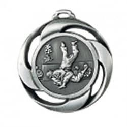 """Medaille """"Judo"""" Ø 40mm mit Band Silber"""
