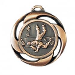 """Medaille """"Judo"""" Ø 40mm mit Band Bronze"""