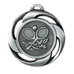 """Medaille """"Tennis"""" Ø 40mm mit Band Silber"""