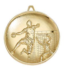 "Medaille ""Handball"" Ø 65mm gold mit Band"