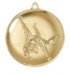 "Medaille ""Judo"" Ø 65mm mit Band Gold"