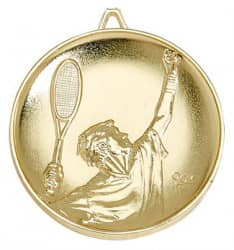 "Nk12 Medaille ""Tennis"" Ø 65mm gold mit Band"