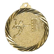 "Medaille ""Handball"" Ø 32mm gold mit Band"