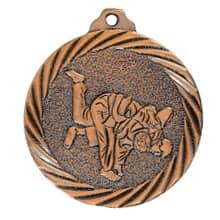"""Medaille """"Judo"""" Ø 32mm mit Band Bronze"""