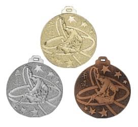 """Medaille """"Judo"""" Ø 50mm silber mit Band"""