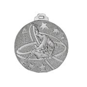 """Medaille """"Judo"""" Ø 50mm silber mit Band Silber"""