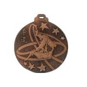 """Medaille """"Judo"""" Ø 50mm silber mit Band Bronze"""