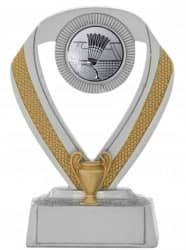 Badmintonpokale 3er Serie C533-BAD silber 12 cm