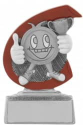 "Kinderpokal ""Smiley"" C650 silber"