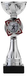 Pokale 3er Serie S1217 silber/rot 19 cm