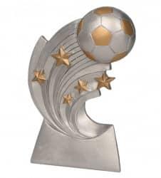 Fußball mit 5 Sternen TRY-RP2014 silber gold