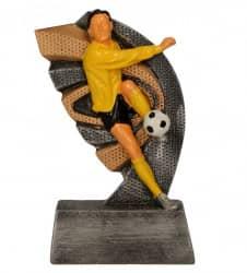 Fußballpokale 3er Serie TRY-RT10 altsilber gold 17 cm