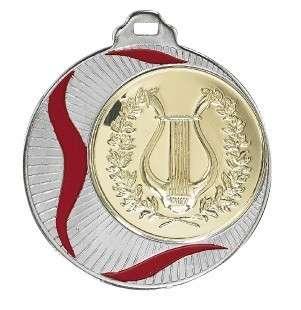 Medaille Akragas Ø 70mm mit Wunschemblem und Band