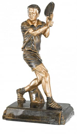 Trophäe Tennisspieler FS20308 bronze