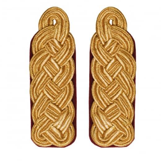 Schultergeflechte - Majorsgeflechte gold rot