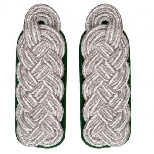 Schultergeflecht - Majorsgeflecht silber grün