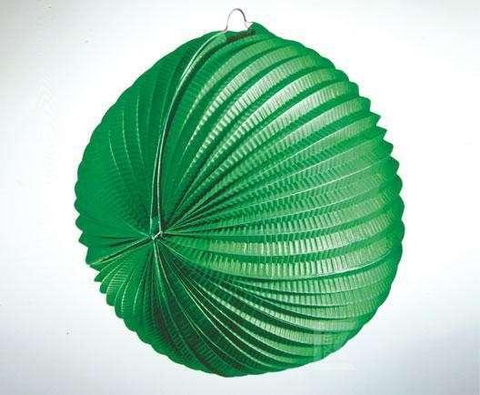 Lampion grün, schwer entflammbar