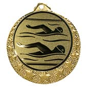 Schwimm Medaille Brixia Ø 32mm mit Emblem und Band