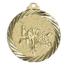 Medaille Judo Ø 32mm mit Band