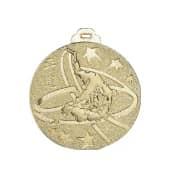 Medaille Judo Ø 50mm silber mit Band