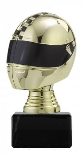 Figurpokal Helm PF353.1 gold/schwarz