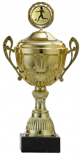 Pokale 12er Serie S765 gold mit Deckel