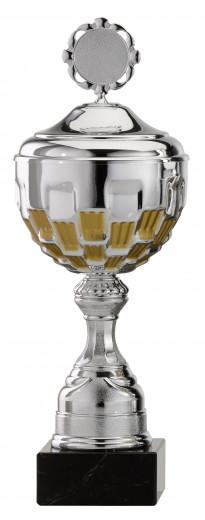 Pokale 12er Serie S757 silber/gold mit Deckel