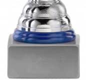 Pokale 12er Serie S755 silber/blau mit Deckel 27 cm