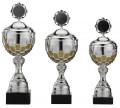 Reefmans757 Pokale 3er Serie S757-3erB silber/gold mit Deckel