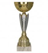 Pokale 6er Serie TRY8288 gold/silber 22,5 cm
