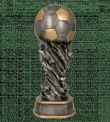 Fußballpokale 3er Serie TRY-6558 altsilber mit gold