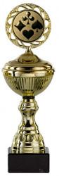 Pokerpokale 6er Serie S148-POK gold mit Deckel