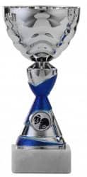 Pokale 6er Serie S501 silber/blau 17 cm
