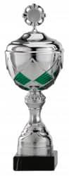 Pokale 6er Serie S485 silber/grün mit Deckel