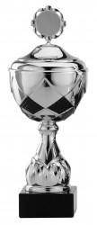 Pokale 3er Serie S756-3erB silber-schwarz mit Deckel
