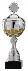 Pokale 6er Serie S757-6er silber/gold mit Deckel 39 cm