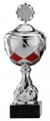 Pokale 12er Serie S759 silber/rot mit Deckel