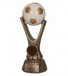 Fußballpokale 3er Serie TRY-RKO113 altgold mit weiß