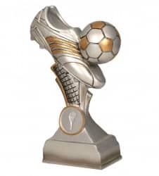 Fußballschuh mit Ball 5er Serie TRY-RP300 silber gold