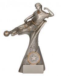 """Fußballer """"Im Flug"""" 3er Serie TRY-RP500 silber gold"""