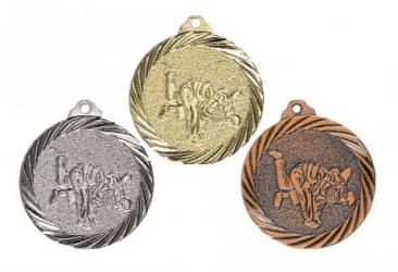 """Medaille """"Judo"""" Ø 32mm mit Band"""