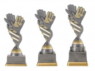 "Fußballpokal ""Handschuhe"" PF228-M61 altsilber/gold"