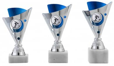 SALE: Pokale 3er Serie A1215 silber/blau