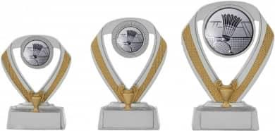 Badmintonpokale 3er Serie C533-BAD silber