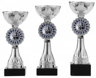 Pokale 3er Serie S1218 silber/blau